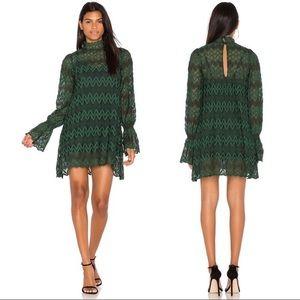 FREE PEOPLE Victorian Mock Neck Lace Dress XS